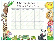 Tooth Brush Tracking Chart