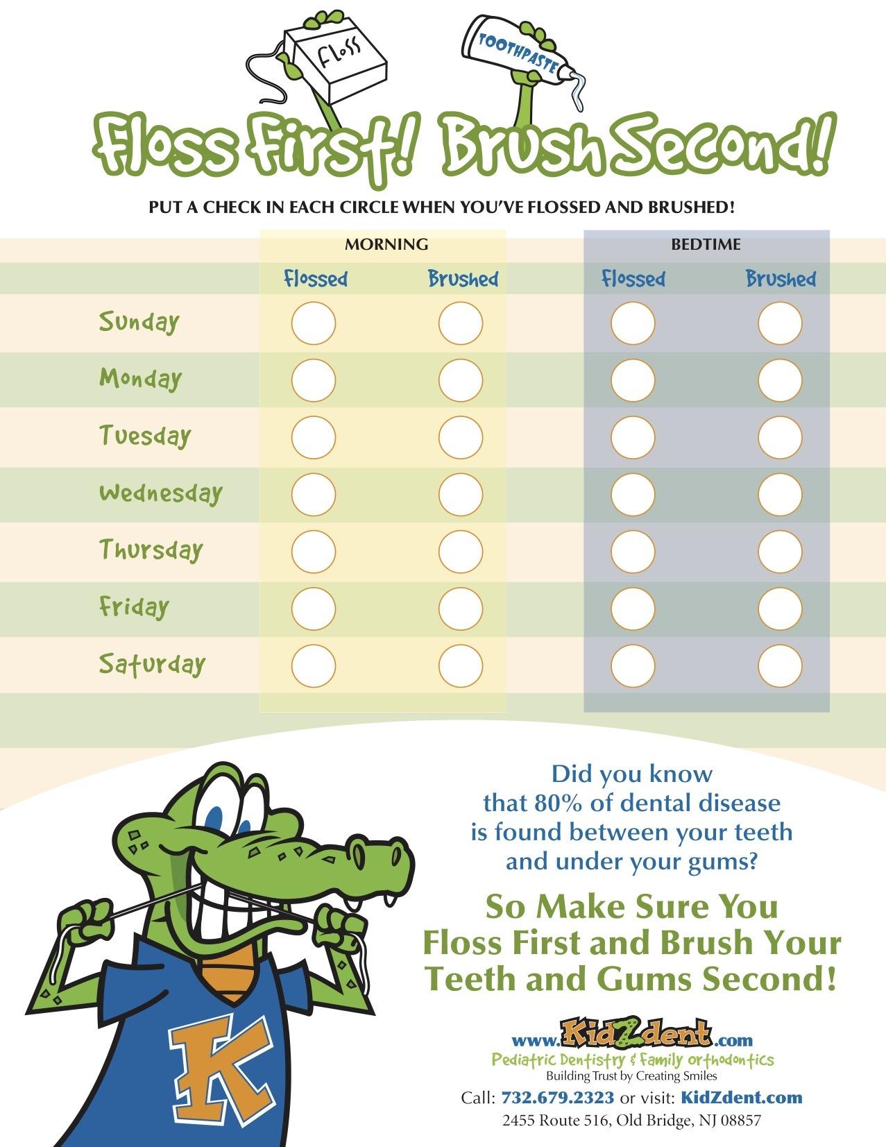 KidZdent Flossing and Brushing