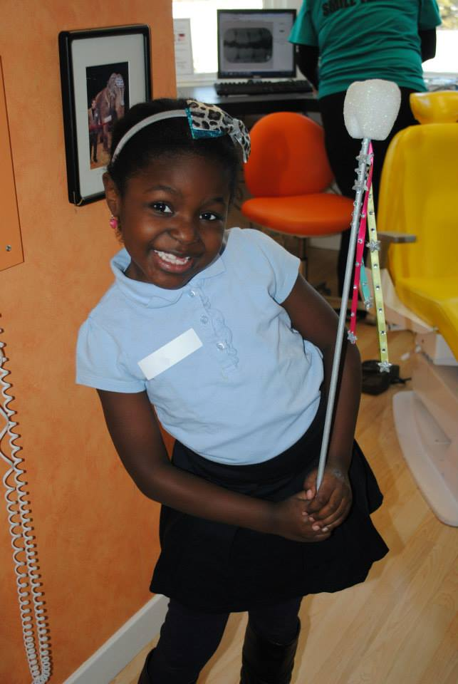 Pediatric patient at kidzdent posing for the camera