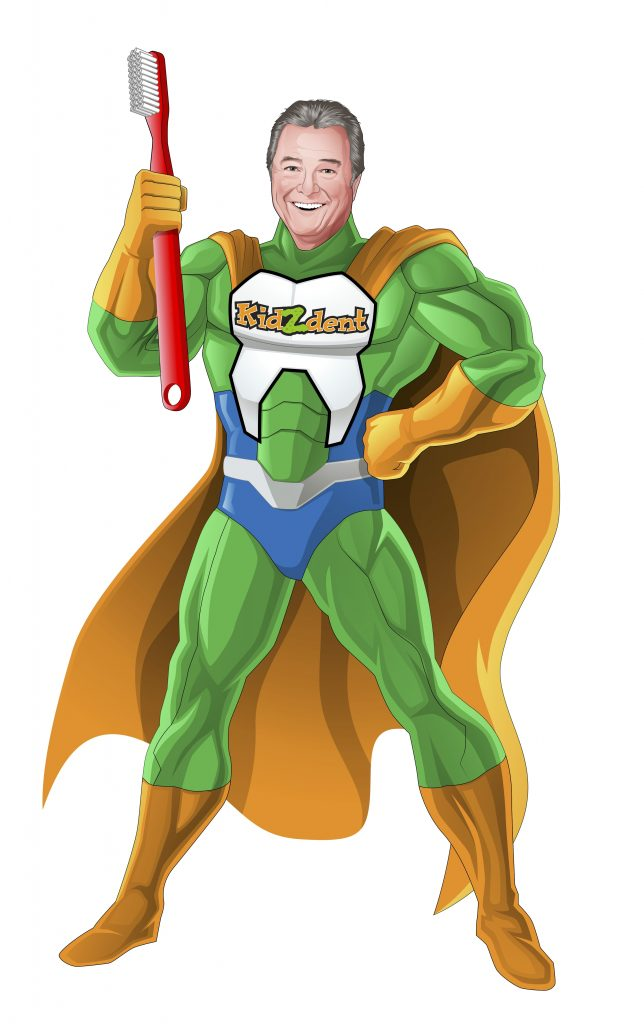 Dr. Cavan Brunsden Superhero cartoon sketch