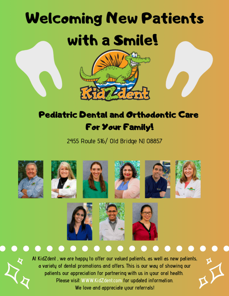 Welcoming new patients to kidzdent flyer