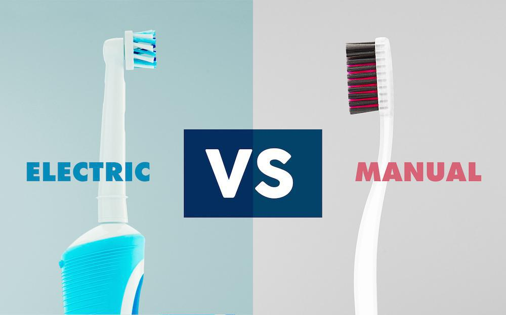 Manual vs Electric Toothbrush comparison photo
