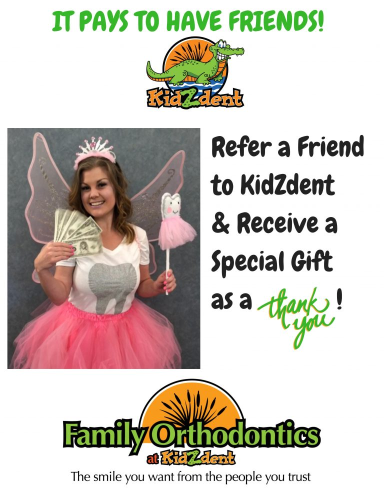 Refer a friend to kidzdent flyer