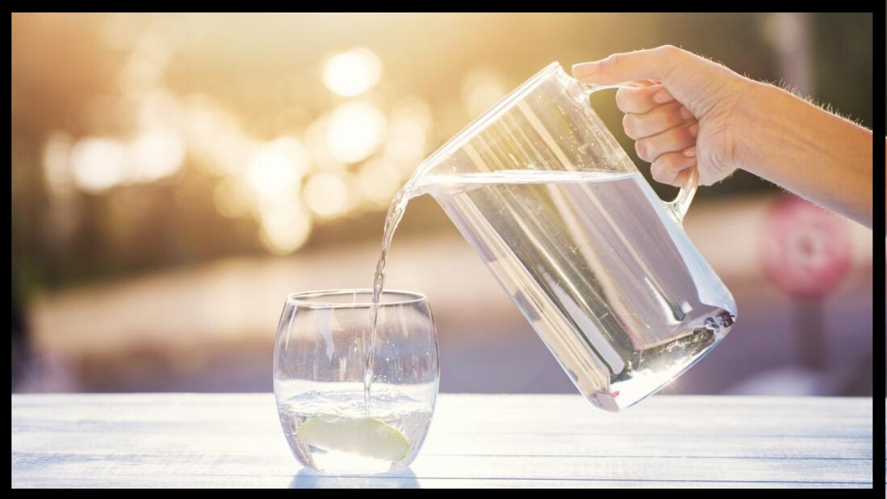 Pitcher of water with fluoride