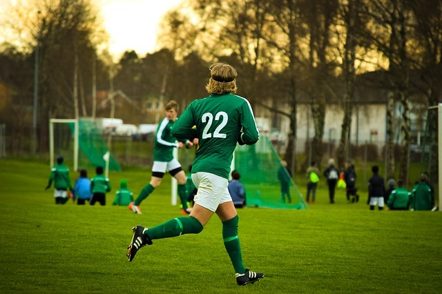 soccer player playing on the field